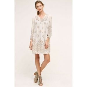 New Anthropologie Donia Peasant Dress Size S Ivory